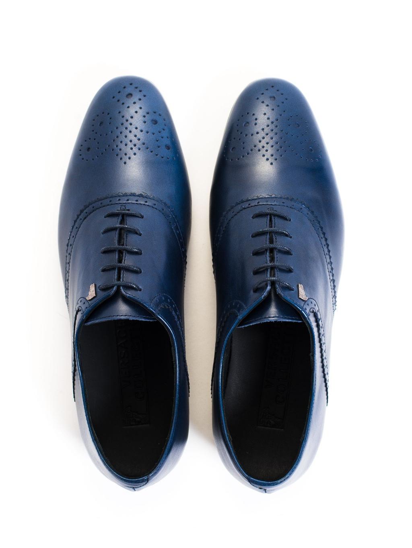 Versace Collection Antico Blue pánska spoločenská obuv. b0130f60f39