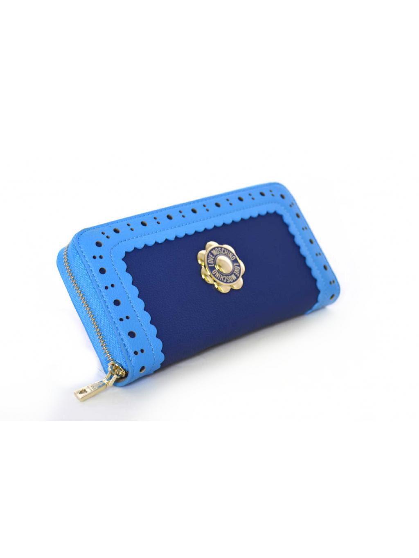 Love Moschino Grain Pebble Pu Blu - dámska peňaženka. Jemná a kvalitná. 6bcdd4d975d