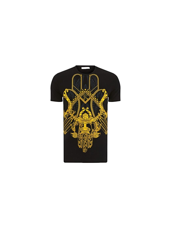 Versace Collection Pánske Zlaté Tričko 3a61f564622