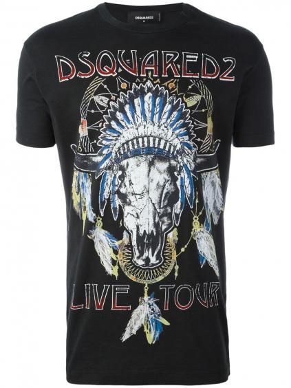 DSQUARED2 – glam rock pánske tričko (1)