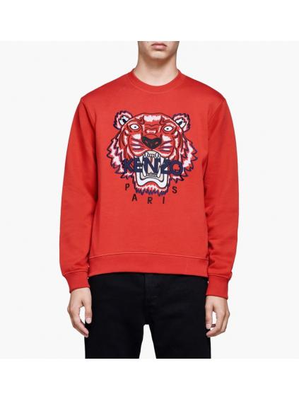 kenzo tiger classic swearshirt 5SW0014XA21 medium red pasnka mikina cervena  (1) 08e3985aa1e