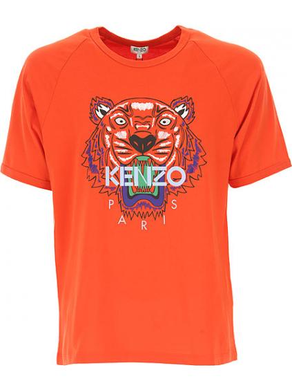 kenzo tiger raglan tshirt 5TS0244YB21 medium red panske tricko oranzove cervene (2)