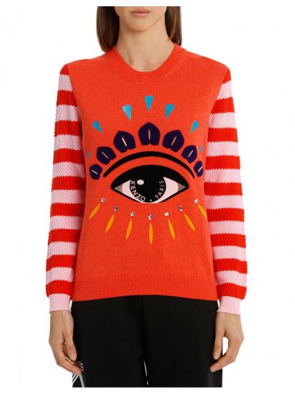 kenzo eye relaxed jumper medium red 2T04313XD21 damsky sveter oranzovy (2)
